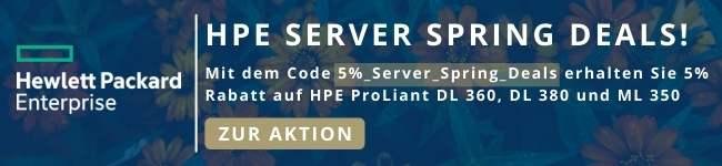 HPE Server Spring Deals: 5% sparen!
